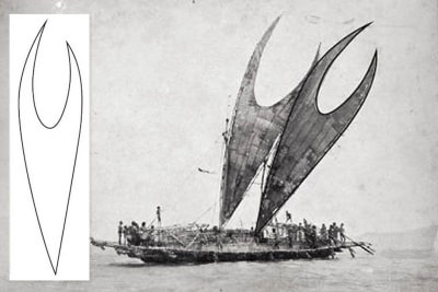 Lakatoi sail inspiration for APEC Haus